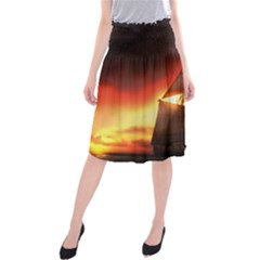 Pirate Ship Caribbean Midi Beach Skirt