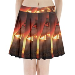 Pirate Ship Caribbean Pleated Mini Skirt