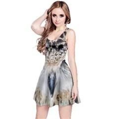 Owl Face Reversible Sleeveless Dress