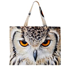 Owl Face Large Tote Bag