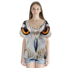 Owl Face Flutter Sleeve Top