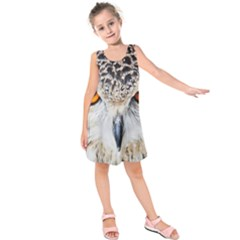 Owl Face Kids  Sleeveless Dress