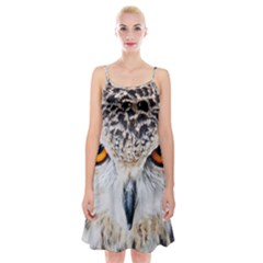 Owl Face Spaghetti Strap Velvet Dress
