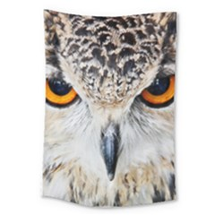 Owl Face Large Tapestry
