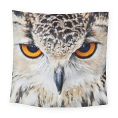 Owl Face Square Tapestry (large)