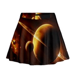 Planets Space Mini Flare Skirt