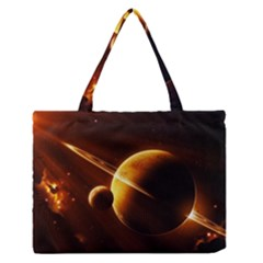 Planets Space Medium Zipper Tote Bag