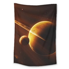 Planets Space Large Tapestry
