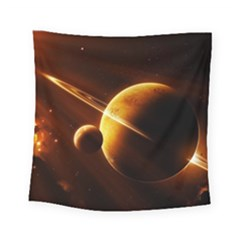 Planets Space Square Tapestry (small)