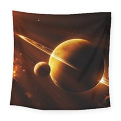 Planets Space Square Tapestry (Large)