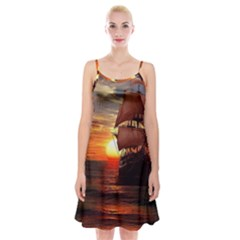 Pirate Ship Spaghetti Strap Velvet Dress