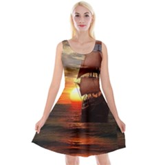Pirate Ship Reversible Velvet Sleeveless Dress