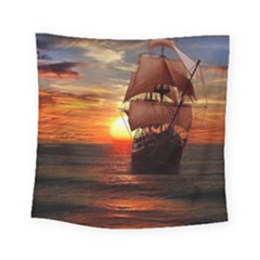 Pirate Ship Square Tapestry (Small)
