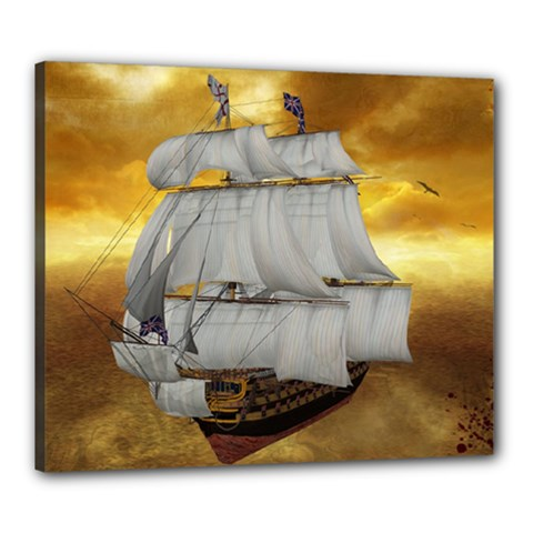 Pirate Ship Canvas 24  X 20