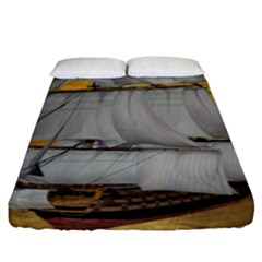 Pirate Ship Fitted Sheet (king Size)
