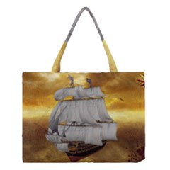Pirate Ship Medium Tote Bag