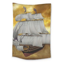 Pirate Ship Large Tapestry