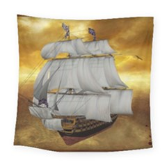 Pirate Ship Square Tapestry (large)