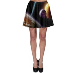 Planets In Space Skater Skirt