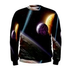 Planets In Space Men s Sweatshirt