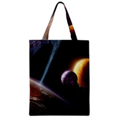 Planets In Space Zipper Classic Tote Bag