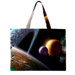 Planets In Space Large Tote Bag