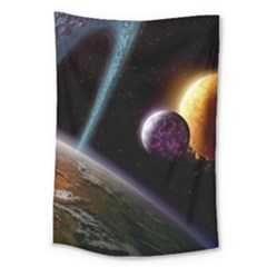 Planets In Space Large Tapestry