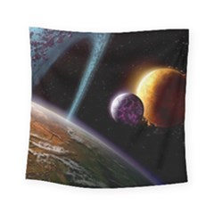 Planets In Space Square Tapestry (Small)
