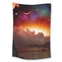 Red Fantasy Large Tapestry