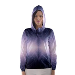 Real Photographs In Saturns Rings Hooded Wind Breaker (women)