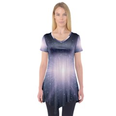 Real Photographs In Saturns Rings Short Sleeve Tunic