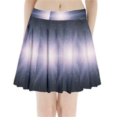 Real Photographs In Saturns Rings Pleated Mini Skirt