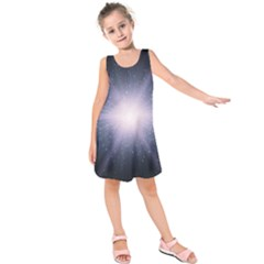 Real Photographs In Saturns Rings Kids  Sleeveless Dress