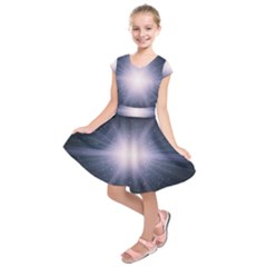Real Photographs In Saturns Rings Kids  Short Sleeve Dress