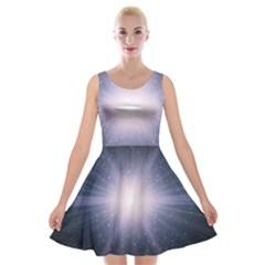 Real Photographs In Saturns Rings Velvet Skater Dress
