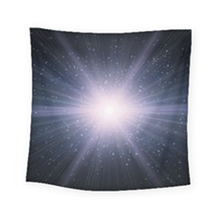 Real Photographs In Saturns Rings Square Tapestry (small)