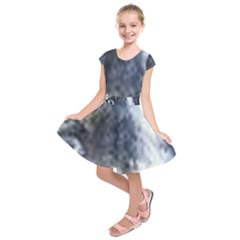 Catahoula Leopard Dog Blue Eyes Kids  Short Sleeve Dress