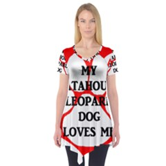 My Catahoula Loves Me Short Sleeve Tunic
