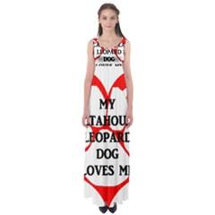 My Catahoula Loves Me Empire Waist Maxi Dress