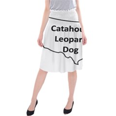 Catahoula Leopard Dog United States Outline Midi Beach Skirt