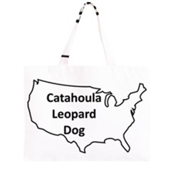 Catahoula Leopard Dog United States Outline Large Tote Bag