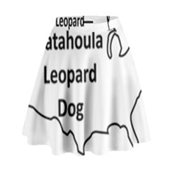 Catahoula Leopard Dog United States Outline High Waist Skirt