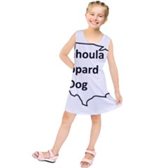 Catahoula Leopard Dog United States Outline Kids  Tunic Dress