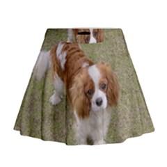 Cavalier King Charles Spaniel Blenheim Full Mini Flare Skirt
