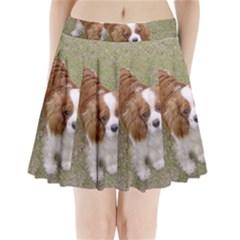 Cavalier King Charles Spaniel Blenheim Full Pleated Mini Skirt