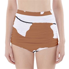 Cavalier King Charles Blenheim Silo High-Waisted Bikini Bottoms