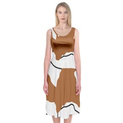 Cavalier King Charles Blenheim Silo Midi Sleeveless Dress