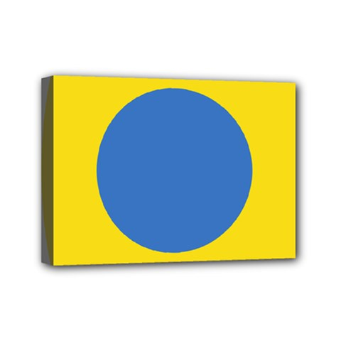 Ukrainian Air Force Roundel Mini Canvas 7  X 5