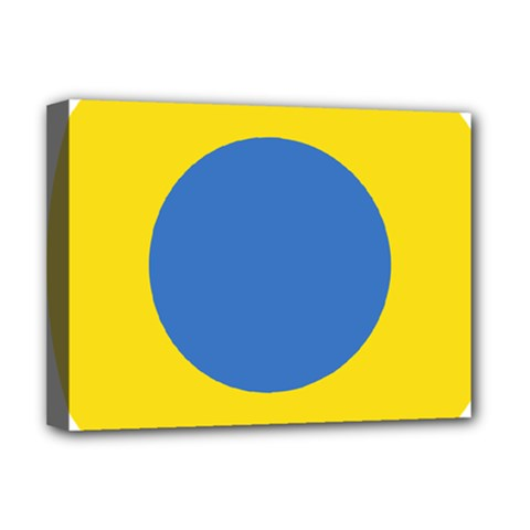 Ukrainian Air Force Roundel Deluxe Canvas 16  x 12