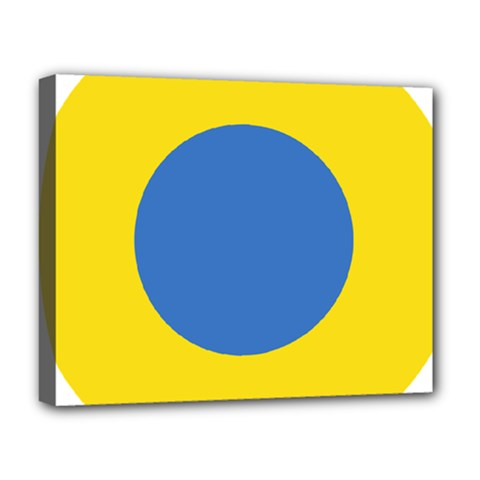Ukrainian Air Force Roundel Deluxe Canvas 20  x 16